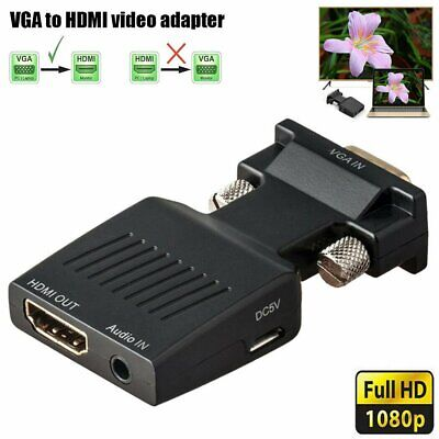 AU10.98 • Buy VGA To HDMI Male To Female Video Adapter Cable Converter AU Stock NEW Au