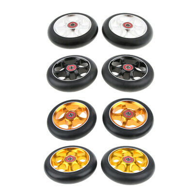 2pcs Professional 110mm Metal Core Skateboard Scooter Wheels Spare Parts • 21.10£