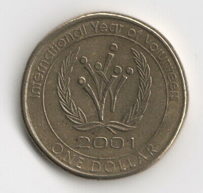 AU2.75 • Buy 2001 Australian $1 Dollar Coin - International Year Of Volunteers  **free Post**