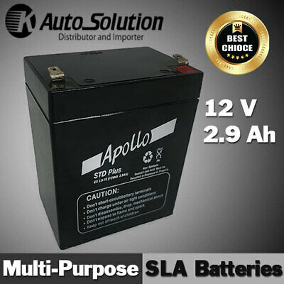 AU39.99 • Buy 12V 2.9AH Sealed Lead Acid Battery For Back-up, Main Power Cyclic Use Security