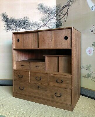 Antique Japanese Ko Tansu Small Chest • 698$