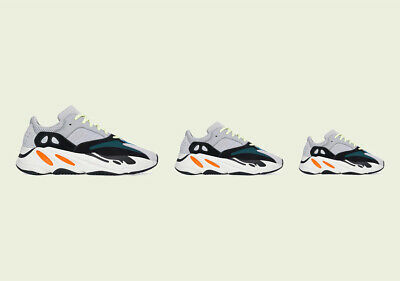 $ CDN445.75 • Buy Adidas Yeezy Boost 700 V1 Wave Runner Kids Size FU9005