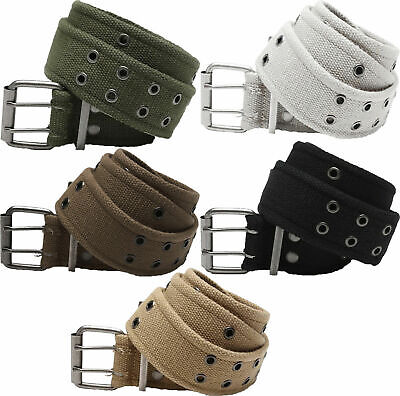 $11.99 • Buy Double Prong Canvas Belt, Vintage Army Pistol Grommet Two Hole 1.75  ROTHCO 4171