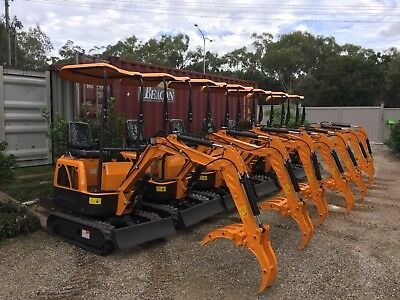 AU11990 • Buy 2020  RHINOCEROS DIESEL MINI EXCAVATOR XN08  9 Attachments Incl