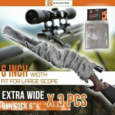 AU35.25 • Buy 3X Gun Sock 6 Inch Extra Wide Silicone Treated Rifle Shotgun Large Scoped Cover