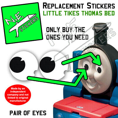 £2 • Buy Replacement Eye Stickers SIZED TO FIT Little Tikes Thomas The Tank Engine Bed