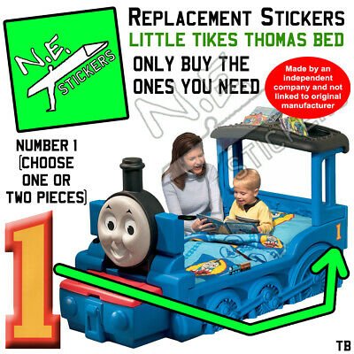 £3 • Buy Replacement Number 1 Stickers SIZED TO FIT Little Tikes Thomas Tank Engine Bed