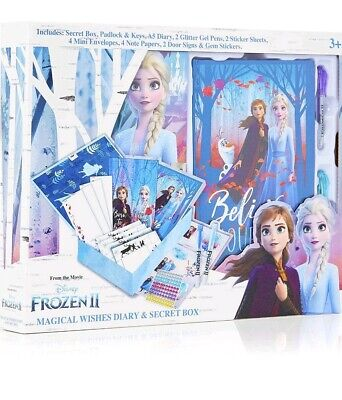 AU33.51 • Buy Disney Frozen 2 Secret Diary Set With Box  And Lock  Princess Elsa And Anna Gift