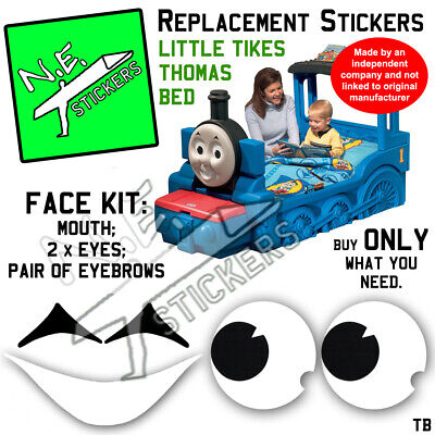 £1.50 • Buy Replacement FACE SET Stickers SIZED TO FIT Little Tikes Thomas Tank Engine Bed