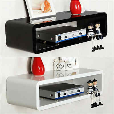 £13.99 • Buy High Gloss Floating Shelves Wooden Wall Mounted Shelf Unit Cube Display Storage