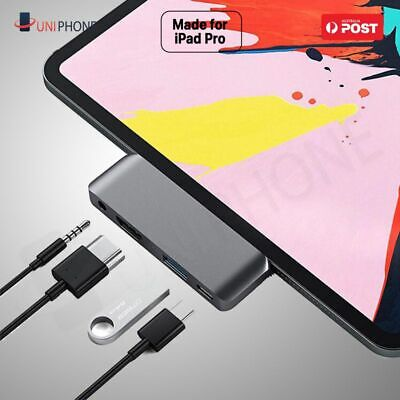 AU26.99 • Buy USB-C Hub 4K HDMI USB 3.0 Type C 3.5mm Earphone Jack Adapter IPad Air 4 Pro 2020