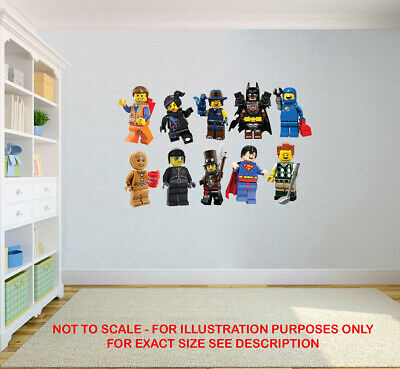 Lego Movie Stickers Super Heroes Kids Bedroom Vinyl Decal Wall Art Sticker • 2.99£