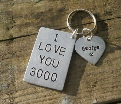 AU23.43 • Buy Personalised I LOVE YOU 3000 Gifts For Him Her Boyfriend Keychain Valentines Day