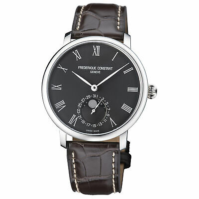 Frederique Constant Slimline Moonphase Automatic Dial Men's Watch FC-705GR4S6 • 1,075$