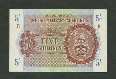 £52.50 • Buy BRITISH MILITARY AUTHORITY  5 Sh  WWII  Krause M4  Good EF  Banknotes