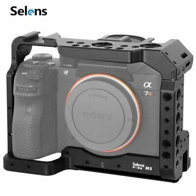 $ CDN56.92 • Buy A7III Video Camera Cage Rig Vlog Protective Case Grip For SONY A73 A7R3 A7M3