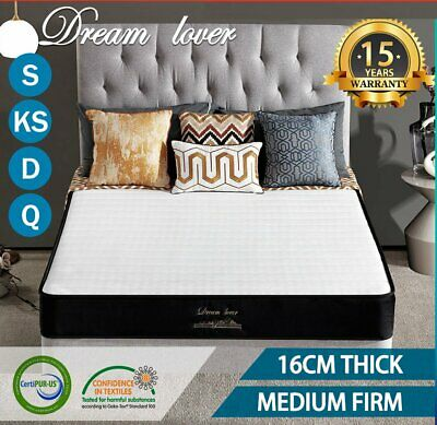 AU118.15 • Buy DREAM LOVER QUEEN KING SINGLE DOUBLE Mattress Bed Bonnell Spring Foam 16cm
