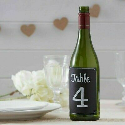 £6.95 • Buy TABLE NUMBERS 1-12 Chalkboard Bottle Stickers Decorations (AF-712)