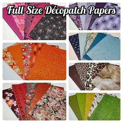£6.95 • Buy  Decopatch, Decoupage Paper Collection Packs *** 5x FULL SIZE SHEETS ***