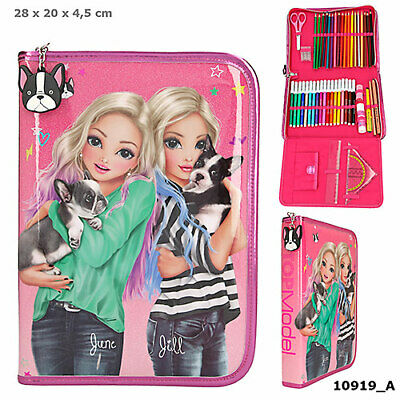 Top Model Fantasy - LARGE FOLD OUT Pencil Case - Filled Pink Gloss Sparkle Cover • 32.99£