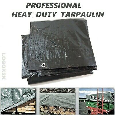 £13.18 • Buy Professional Tarpaulin Extra Heavy Duty Waterproof Cover Roofing Ground Sheet
