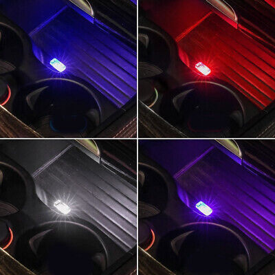 AU1.40 • Buy 1x Flexible Mini USB LED Light Lamp For Car Atmosphere Colorful Lamp Accessories
