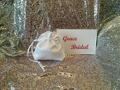 £5.99 • Buy WHITE HOLY COMMUNION PEARL CROSS & SCATTERED PEARL DOLLY BAG **free Swatches**