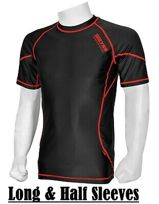 £6.99 • Buy Mens Compression Armour Base Layer Top Long Half Sleeve Thermal Gym Sports Shirt