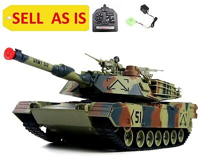 $19.98 • Buy SELL AS IS Abrams M1A2 USA Battle Tank Airsoft 16  RC Camo Military Vehicle Used