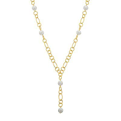 View Details Crystaluxe Beaded Lariat Necklace W White Swarovski Crystals, 18K Gold On Bronze • 9.25$