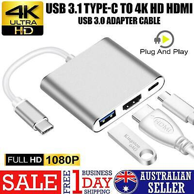AU11.99 • Buy Type-C 3.1 To 4K HDMI +VGA Port USB-C HUB Adapter Converter For MacBook Pro AUS