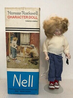 $8.98 • Buy Vtg. Norman Rockwell  Character Doll   Nell   1981 Germany Limited Edition