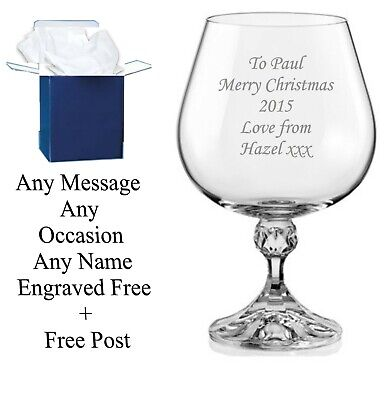 Personalised Engraved Brandy Glass Father Of The Bride Father Of The Groom Gifts • 9.95£