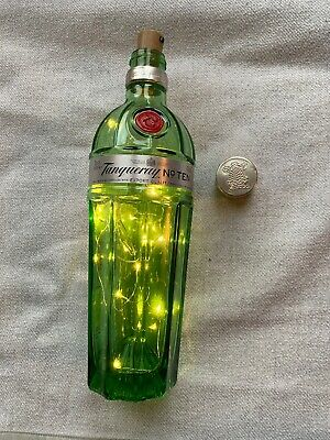 Up Cycled Tanqueray No 10 Gin Bottle LED Light Wedding Centre Piece Bottle 700ml • 9.49£