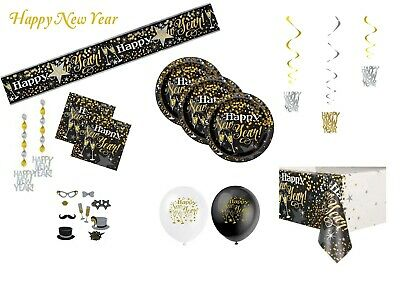New Year Eve Party Tableware Plates Napkins Tablecover Decorations Photo Props • 2.77£