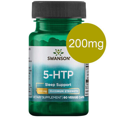 AU31.95 • Buy Swanson 5-HTP 5HTP 200mg Max Strength 60 Veggie Caps MOOD And SLEEP SUPPORT