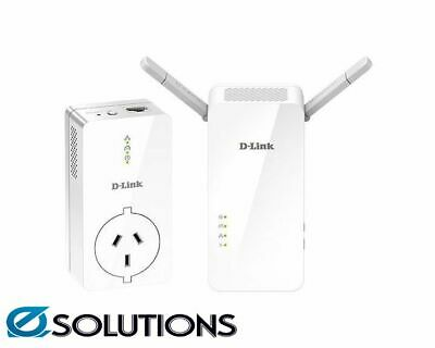 AU304.14 • Buy D-Link DHP-W611AV PowerLine AV2 1000 Wi-Fi AC1200 Starter Kit