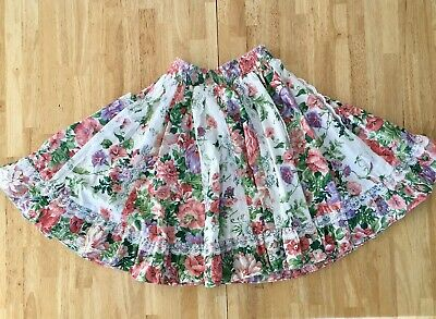 Handmade Women's Western Country Floral Square Dance Skirt With Pockets S? • 24.99$