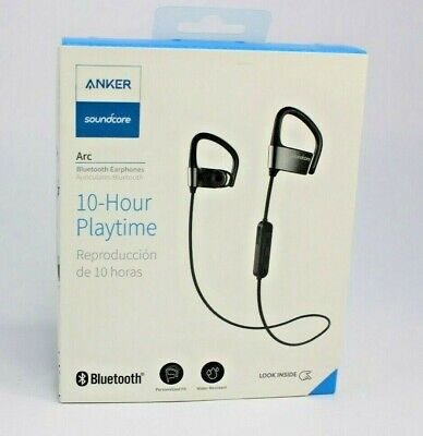 AU30.14 • Buy Anker SoundBuds Arc Wireless Headphones Bluetooth Metal - Black/Gray | A3261ZF1