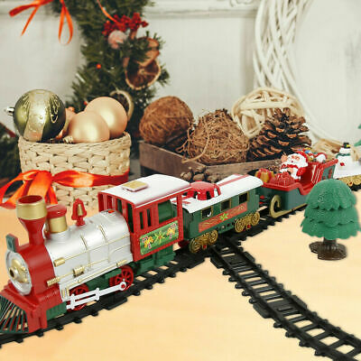 20Pcs Christmas Train Toy Set Ornament Musical Lights Tree Decoration Kids Gift • 13.89£
