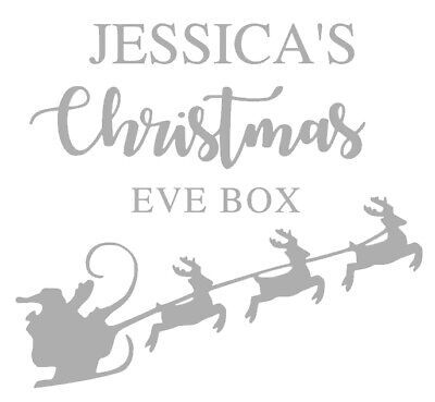 Personalised Christmas Eve Box Sticker, Vinyl Decal, DIY Christmas Eve Box • 2.99£