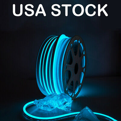 $230 • Buy Ice Blue Light Strip LED Neon Rope Light For Room Waterproof Home Party Decor