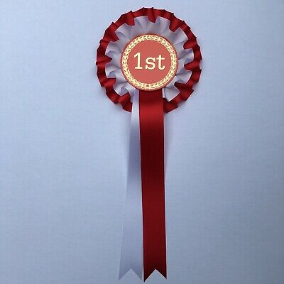 Happy Birthday Rosette 2 Tier Silver Printing FREE 1st Class POSTAGE