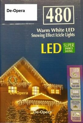 Icicle Snowing Effect Lights Xmas LED 240/360/480/720/960/1200 Outdoor/Indoor Uk • 39.95£
