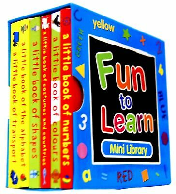 £3.35 • Buy FUN TO LEARN MINI LIBRARY BLUE Or RED SET 6 PRESCHOOL EDUCATIONAL BOOKS