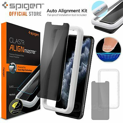 AU19.99 • Buy SPIGEN GLAS.tR AlignMaster Privacy For Apple IPhone 11 Pro XS X Screen Protector