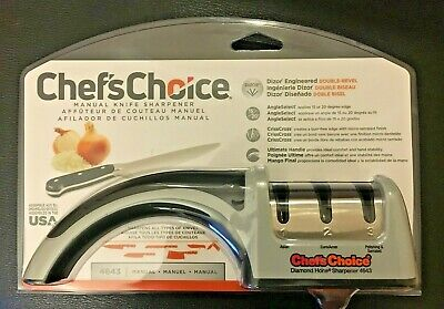 $39.99 • Buy Chef's Choice Manual Knife Sharpener 4643 Daimond Hone 3 Stage / Slot Pronto Pro