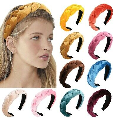 $ CDN6.32 • Buy Women's Velvet Headband Hairband Twist Braided Knotted Hair Hoop Accessories Lot