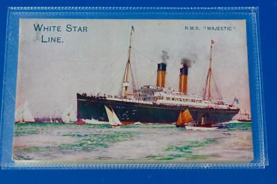 White Star Line Rms Majestic Charles Dixon Company Issued Advertising Postcard • 40£