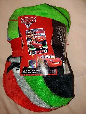 Disney Pixar Cars 2 #95 Lightening McQueen  Mi CroSoft Blanket Throw 46 X60  New • 14.59£